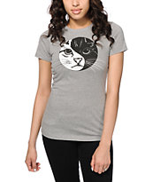 A-Lab Yin Yang Kitty Dark Grey T-Shirt