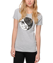 A-Lab Yin Yang Kitty Face T-Shirt