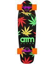 "ATM Rasta Leaf 27"" Cruiser Complete Skateboard"