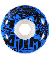 ATM Stickers Green 54mm Skateboard Wheels