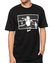 Acrylick Heavy Weights Black Tee Shirt