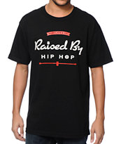 Acrylick Raised By Hip Hop Black Tee Shirt