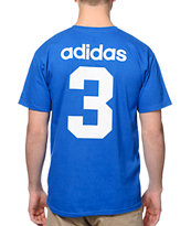 Adidas 2014 France Team Jersey Blue Tee Shirt