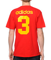 Adidas 2014 Spain Team Jersey Red Tee Shirt
