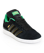Adidas Busenitz Black, Green, & Yellow Shoes
