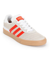Adidas Busenitz White & Red Shoes