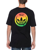 Adidas Electric Circle Black & Rasta Tee Shirt