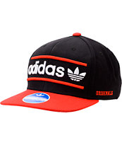 Adidas Heritage Black & Red Snapback Hat