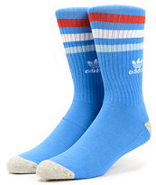 Adidas Originals Blue & Scarlet Red Crew Socks