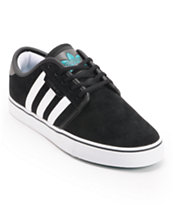 Adidas Seeley Black, Green, & White Skate Shoes