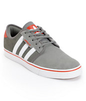 Adidas Seeley Mid Cinder, Running White, & Red Skate Shoe