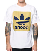 Adidas X Snoop White & Gold Foil Tee Shirt
