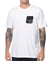 Akomplice Black Floral White Pocket Tee Shirt