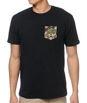Akomplice Camo Black Pocket Tee Shirt