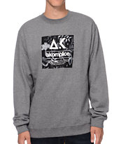 Akomplice Flower Print Grey Crew Neck Sweatshirt