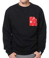 Akomplice IKat Black Pocket Crew Neck Sweatshirt