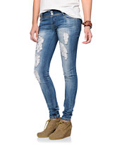 Almost Famous Agnes Light Wash Skinny Jeans