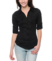 Almost Famous Black Button Up Shirt