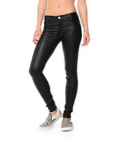 Almost Famous Black Coated Skinny Jeans