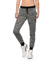 Almost Famous Black Hacci Jogger Pants