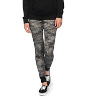 Almost Famous Black Space Dye Jogger Pants
