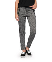 Almost Famous Black Speckle Jogger Pants