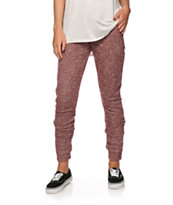 Almost Famous Blackberry Zipper Jogger Pants