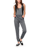 Almost Famous Charcoal Overall Jogger Pants
