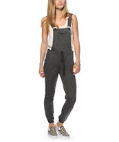Almost Famous Charcoal Terry Overall Jogger Pants