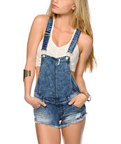 Almost Famous Crochet Pocket Overall Shorts