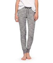 Almost Famous Grey Boucle Jogger Pants