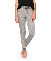 Almost Famous Grey Space Dye Jogger Pants