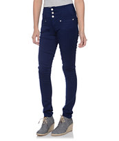 Almost Famous High Waisted Dark Blue Skinny Jeans