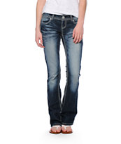 Almost Famous Jane Dark Blue Wash Bootcut Jeans