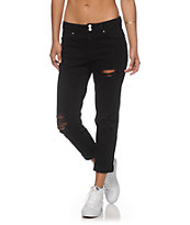 Almost Famous Karli Black Destroyed Boyfriend Jeans