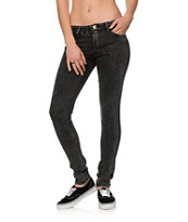 Almost Famous Lana Washed Black Skinny Jeans