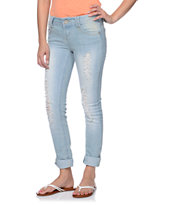 Almost Famous Leah Light Wash Boyfriend Fit Jeans