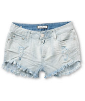Almost Famous Light Wash Destroyed Denim Shorts