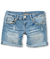 Almost Famous Lily Medium Wash Denim Bermuda Shorts