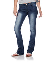 Almost Famous Loni Dark Blue Bootcut Jeans