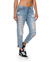 Almost Famous Morrison Medium Blue Boyfriend Jeans