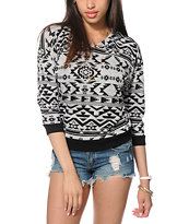 Almost Famous Printed Hacci Tribal Top