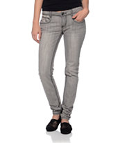 Almost Famous Rachel Lace Grey Skinny Jeans