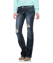 Almost Famous Roxy Dark Blue Wash Bootcut Jeans