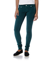 Almost Famous Teal Skinny Corduroy Pants