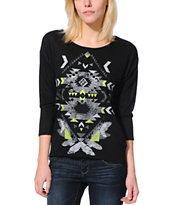 Almost Famous Tribal Black Burnout Top