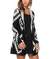 Almost Famous Tribal Hooded Cardigan