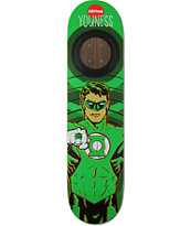 "Almost Youness Green Lantern 7.75"" Impact Support Skateboard Deck"