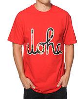 Aloha Army Aloha Script Boba Floral T-Shirt