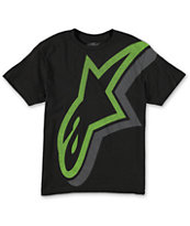 Alpine Stars Boys Duly Black Tee Shirt